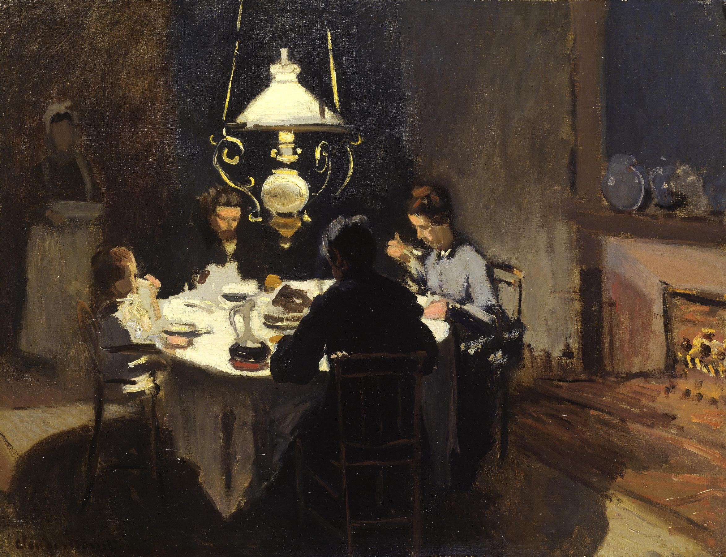 Das Nachtessen · Claude Monet · Stiftung Sammlung E.G. Bührle