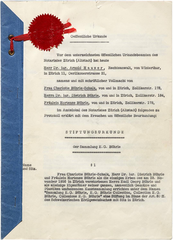 Von der Gründung zu den aktuellen Ausstellungen · Stiftung Sammlung ...